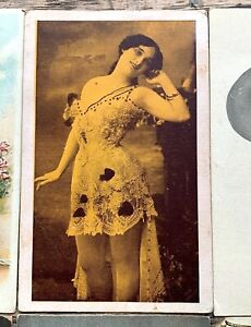 LOT-of-12-Old-1905-1915-Risque-PRETTY-amp-SCANTILY-CLAD-Woman-POSTCARDS-Sexy-NUDE