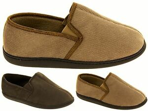 Mens COOLERS Fleecy Lined Cord Outdoor Sole Shoe Slippers Sz Size 7 8 9 10 11 12