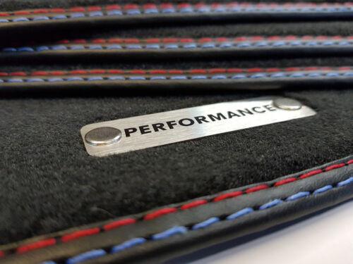 Performance Fußmatten fur BMW 5er E39 Original Qualität Velours Metal Logo 8 Bef
