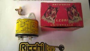 Kit-Antifurto-Auto-Epoca-Universale-Lessi-12V-Comando-Negativo