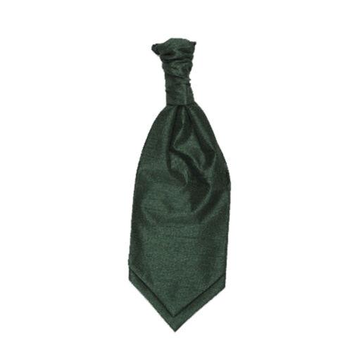 Bottle Green New Wedding Formal Fashion Scottish Shantung Childrens Ruche Tie
