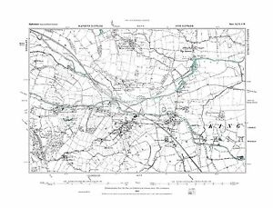 Staffordshire in 1884 Old Map of Armitage Repro 46 SW Hill Ridware