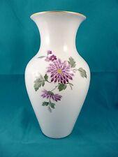 28 cm KPM Berlin Vase mit Blumen, 1. Wahl, Zeptermarke, Reichsapfel