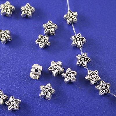 50pcs Tibetan silver plt swirl flower spacer h0702