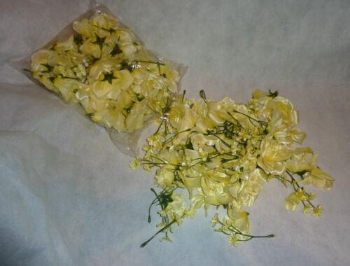 Streublüten  creme gelb Tischdeko 100 Stück Tischdekoration Streudeko