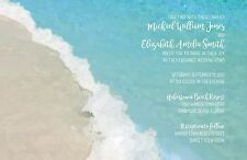 Wedding Invitations Beach Watercolor Rustic 50 Invitations & RSVP Cards
