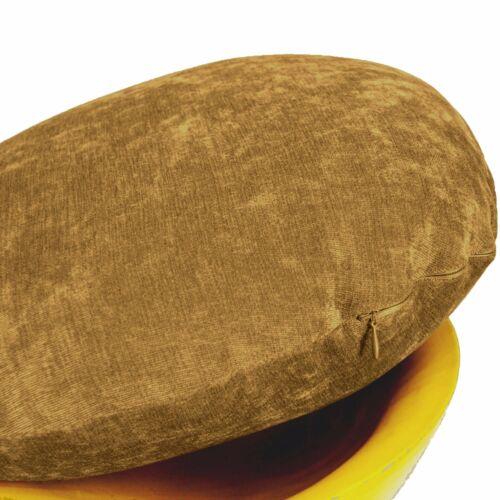 ma19n Pale Gold Brown Plain Round Velvet Style Cushion Cover//Pillow Case*Custom