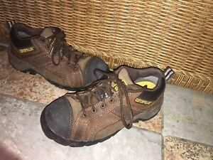 Caterpillar Argon Women/'s Composite Toe Oxford Shoe Dark Brown