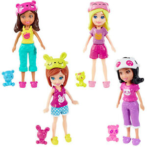 Polly Pocket Set of 4 Dolls: Sleepover Slumber Party SHANI ...