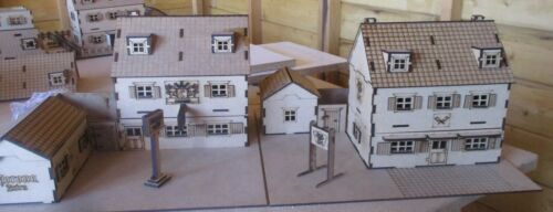 28mm Wargame Scenery 2 Tiles Pub and Butchers Bolt Action Set B