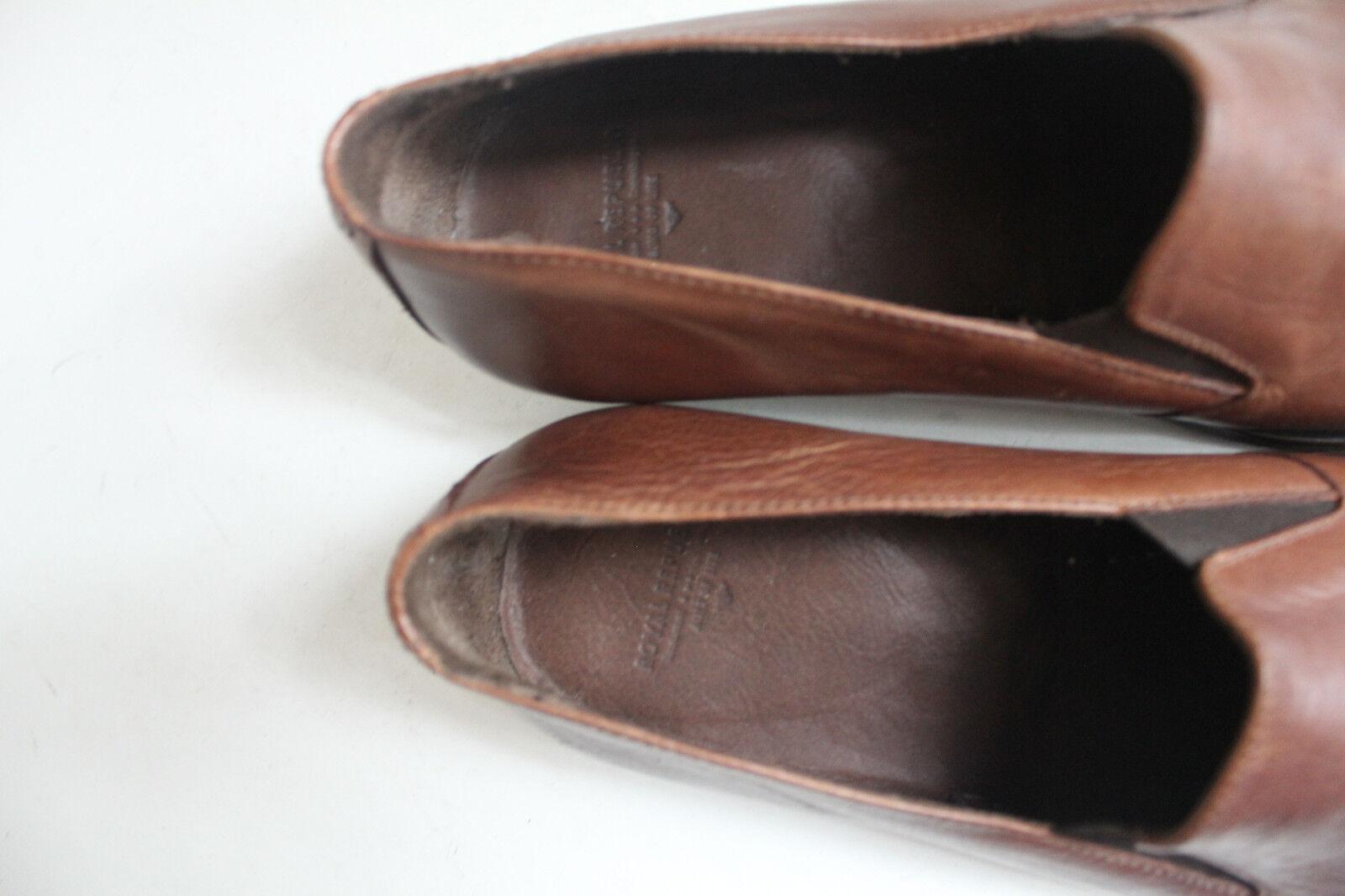 ROYAL REPUBLIC Amsterdam-Copenhagen Pantoufles Chaussures Plein Véritable Cuir 42,5-wie NEUF NEUF NEUF 386989