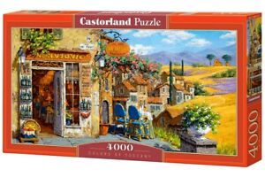 """Brand New Castorland Puzzle 4000 COLORS OF TUSCANY 54"""" x 27"""" C-400171"""