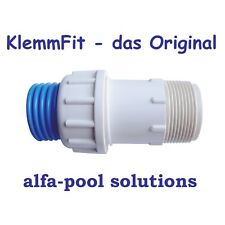 "Anschluss Klemmverschraubung für Schwimmbadschlauch 38mm x 1 1/2"" Aussengewinde"