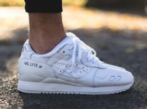 hot sale online 1f755 8933c Details about asics gel lyte iii White Leather H534L0101 RRP £90.00