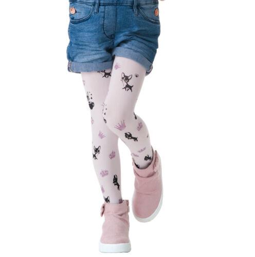 Kids Blanc Collants Collant SISI Par KNITTEX Filles À Motifs 40 Deniers Hosiery