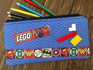 Handmade-Fabric-Lego-Superhero-inspired-Pencil-Case-Kids-Batman-Superman-Bricks