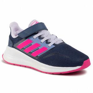 Scarpe-Bambina-Blu-Rosa-Adidas-Runfalcon-C-Palestra-Scuola-Tempo-Libero-Estiva