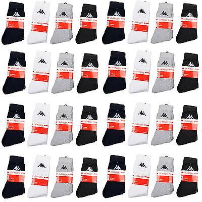 3 Paar Socken Kappa Farbe Weiss Gr/ö/ße 39-42 Tennissocken Str/ümpfe Arbeitssocken Herrensocken Socke
