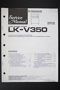 pioneer lk v350 laser karaoke system service manual wiring diagram rh ebay com Basic Turn Signal Wiring Diagram Basic Turn Signal Wiring Diagram