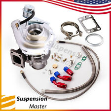 T3 T4 T40E Turbo Charger +Oil Drain & Return FEED Line Kits