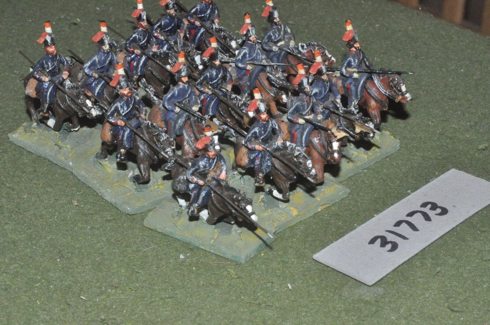 25 mm napoléoniennes RUSSIE-Cosaques 15 figures-CAV (31773)