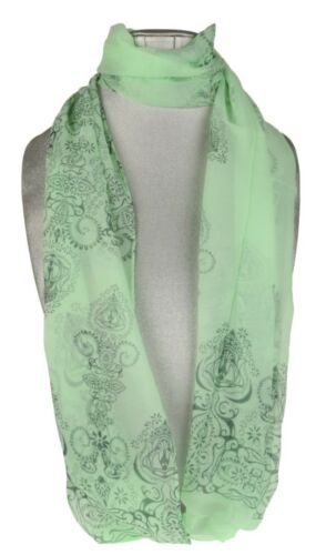 Womens Paisley Print Scarf Vintage Floral Classic Long Soft Neck Shawl Stole