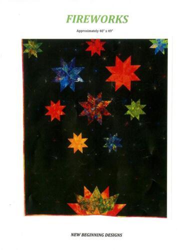 Fireworks New Beginning Designs Pieced Wall Quilt Pattern
