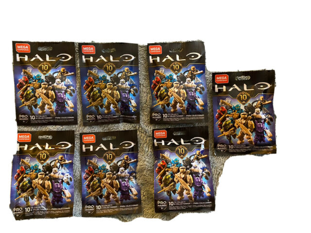 Lot of 7 Mega Construx Halo 10th Anniversary Series Blind Bags New! Sealed!