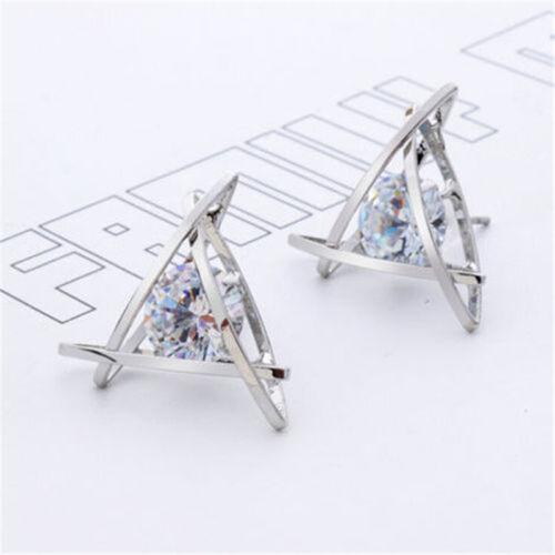 Elegant Fashion Women Lady Girls Crystal Rhinestone Pearl Ear Stud Earrings