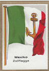 DRAPEAU MEXICO MEXIQUE Zoll douane customs FLAG CARD 30s