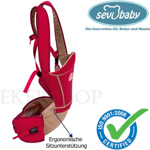 Komfort Babytrage mit Sitzkissen Bauchtrage Trage Baby Tragetasche Sevibaby