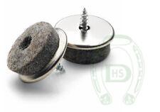 50 St/ück inkl /ø 35 mm Eisen vernickelt M/öbel-Gleiter Bit gratis SBS Filzgleiter mit Schraube