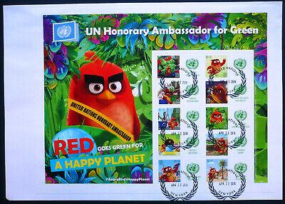 Effizient Uno New York 2016 Grussmarken Bogen 1504-13 Fdc Angry Bird Green Planet Kataloge Werden Auf Anfrage Verschickt