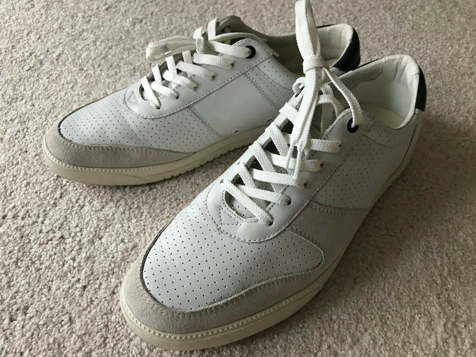 Clae GREGORY White US Mens sz 8.5 Leather suede Sneaker Casual shoe