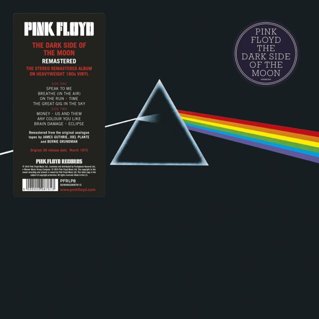 PINK FLOYD THE DARK SIDE OF THE MOON (REMASTERED) VINILE LP 180 GRAMMI NUOVO