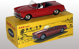 DAN-TOYS-Peugeot-404-Cabriolet-Rouge-Portes-et-Capot-ouvrants-Ref-DAN-227