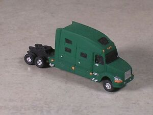 Image Is Loading N Scale 2010 Green Volvo Semi Truck