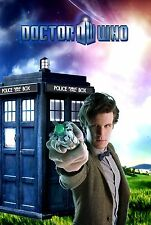 Matt Smith - 11th Doctor Street Parking Sign - Doctor Who Blue Police Box Sonic