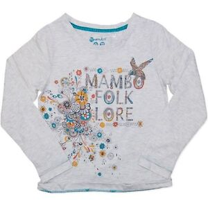New mambo girls long sleeve top tee shirt size 8 10 12 14 for Girls shirts size 8