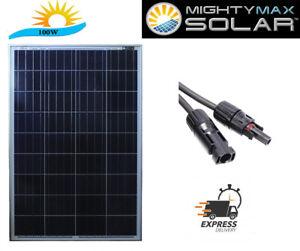 mighty max 100 watt solar panel 12v poly off grid battery. Black Bedroom Furniture Sets. Home Design Ideas