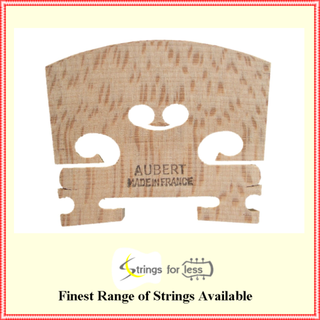 Aubert Bridge No 5 Prepared 1/2 Violin Maple Bridge  Made in France