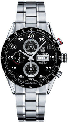 Men's Automatic WatchEbay Tag Day Carrera Stainless Steel Date Cv2a10 ba0796 Heuer Im7gbfY6yv