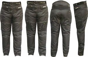 Pantalone-Moto-Cordura-NERO3131-PROTEZIONI-CE-Fodera-Mashe