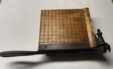 Vintage Burke Amp James Trimmerpaper Cutter 6 12 1920s Rexo Jr No 1