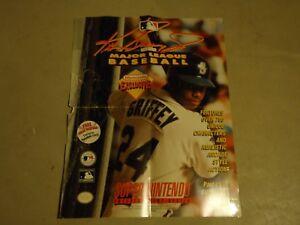 the latest 3a6e6 4f7ea Details about Ken Griffey Jr Major League Baseball Super Nintendo SNES  Store Display Poster