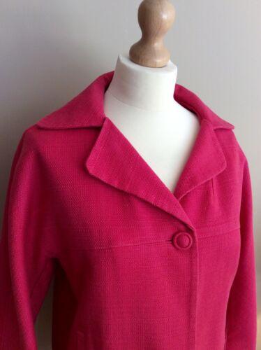 14 Cotton Pink Boden Button Taille Jacket f1TnnpSW
