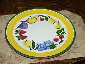 Huge-Stangl-Festival-12-034-Round-Chop-Plate-Charger-Vintg-Handpainted-Art-Pottery