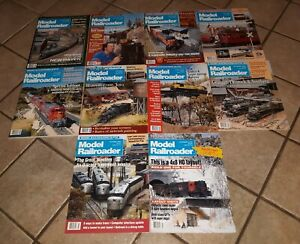 Lot-of-10-Model-Railroader-Magazines-all-1992-issues-TRAIN-RAILROAD-vintage-NICE