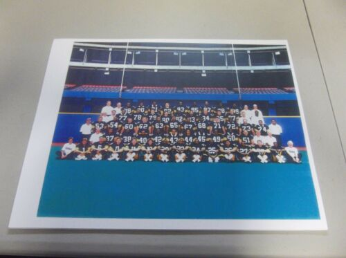 """8 1//2/"""" X 11/"""" COLOR PITTSBURGH STEELERS 1989 TEAM PHOTO"""