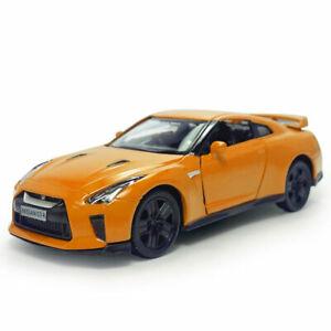 1:36 NISSAN GTR R35 Modello Auto Diecast Veicolo Giocattolo Bambini Regalo ARANCIONE Pull Back